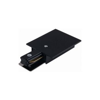 8973  PROFILE RECESSED POWER END CAP BLACK