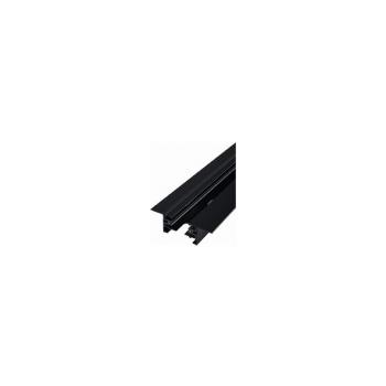 9013  PROFILE RECESSED TRACK BLACK 1 METER