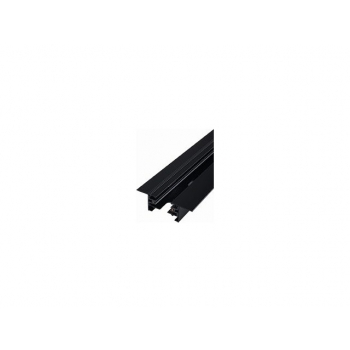 9015  PROFILE RECESSED TRACK BLACK 2 METERS