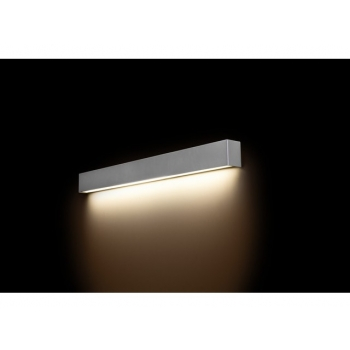 9614  STRAIGHT WALL LED SILVER M